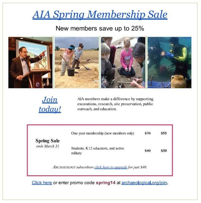 AIA Spring Membership Sale!