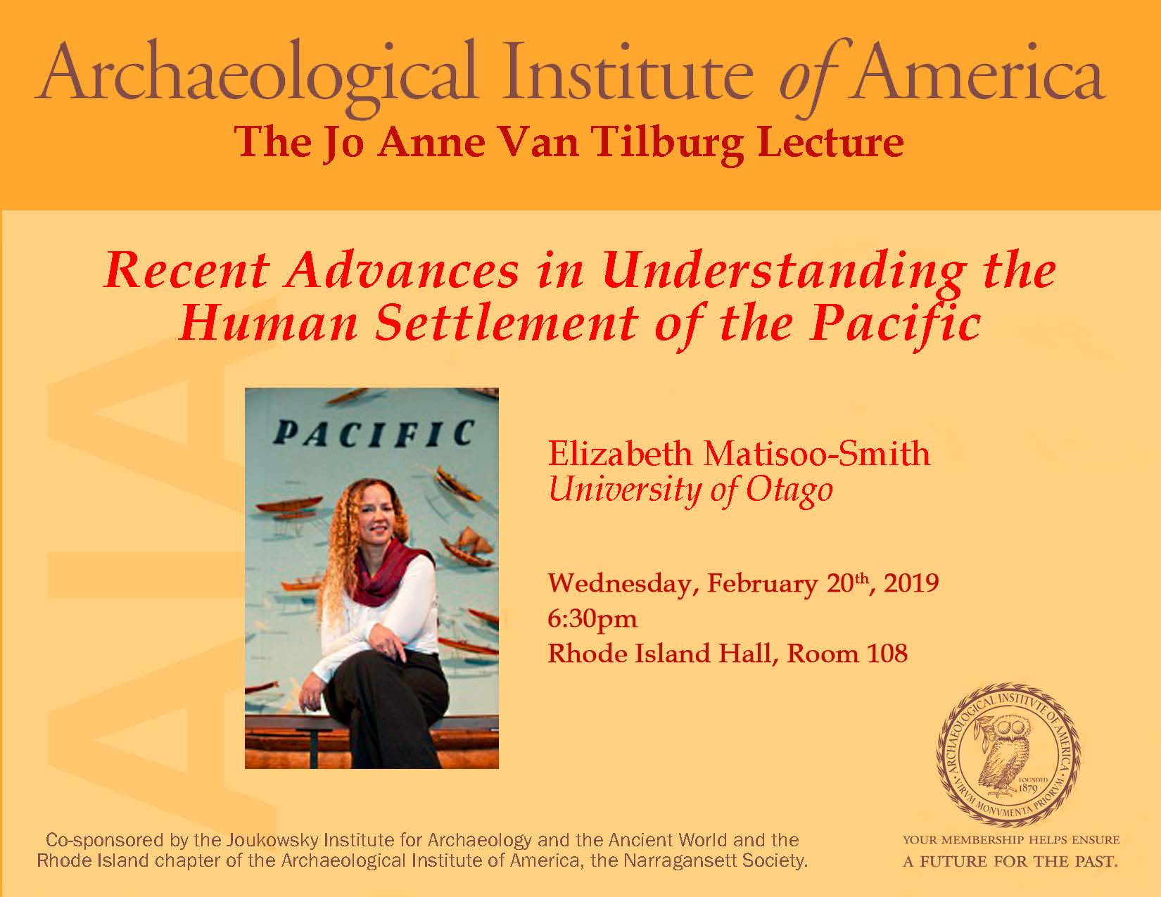 Matisoo-Smith AIA Lecture Poster